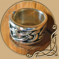 Viking Jelling Dragon Ring